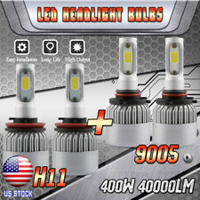 COB LED Headlight Bulbs for 2007-2013 Toyota Tundra High Beam 9005 Low Beam H11