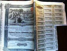 Russian-Belgium 100 Fr bond Electricity of Odessa dated 1910, Ukraine now