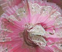 Professional Ballet Platter Tutu Skirt Dance Dress Pink Flower la Ballet Costume