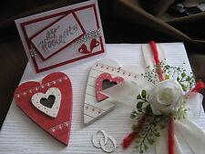 Schöne Verpackung Geldgeschenke Hochzeit mit Karte ,Rot