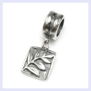Sterlling Silver Tree of Life Rectrangle Dangle Bead for European Charm Bracelet