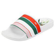 Ted Baker Abelini Womens White Multicolour Textile Slide Sandals