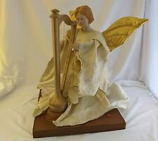 Animated Musical Christmas Angel Playing Harp North Pole Gemmy Battery Operated