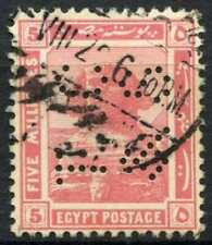 """Egypt 1921-2 SG#90, 5m Pink, """"TC&S"""" Used #D90688"""