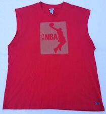 NBA Elevation big logo sleeveless shirt men sz XL red/grey basketball