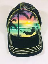 New listing Disney Parks Rare Mickey Mouse Beach Sunset Hammock Adjustable Snapback Hat