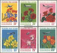 Gabun 425-430 (kompl.Ausg.) gestempelt 1971 Schnittblumen per Luftfracht