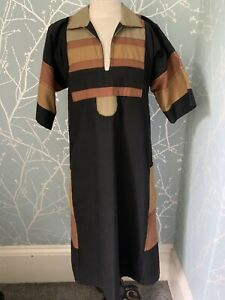 Schmocks Totnes Devon Vintage Smock Dress Boho Festival Winter Dress Small