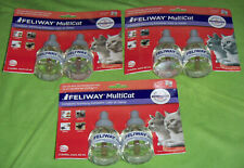 FELIWAY MULTICAT diffuser plug-in refills for cats 48 mL double 2-pack LOT OF 3