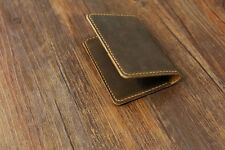 Personalized Real Leather minimalist card wallet front pocket card case wallet