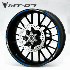 MT-07 motorcycle wheel decals rim stickers mt07 tracer 700 stripes MT 07 blue