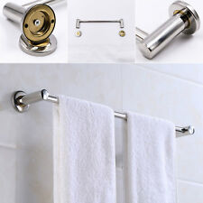 Durable Stainless Steel Towel Bar Single Double Rod Rack bathroom Wall Mounted