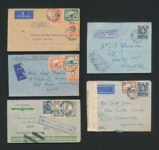 1936-1943 KUT COVERS AIRMAIL TO JAPAN & CENSOR-MADAGASCAR+ARGENTINA CONDOR-KENYA