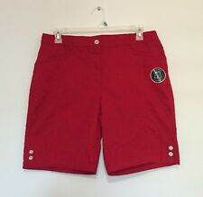 Karen Scott Plus Size 14 Cargo Shorts New Red Amore NWT