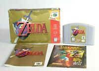 Zelda: Ocarina of Time N64 Nintendo 64 Complete In Box CIB Authentic & Tested!