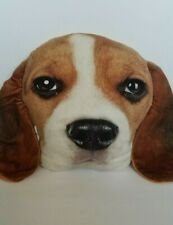 Beagle Dog Pillow Puppy Plush Throw Cushion Realistic Expression Dog Lover Gift