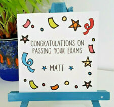 PERSONALISED Handmade Congratulations Well Done You've Passed Exams Card