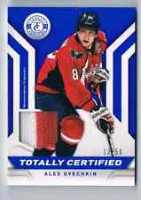 2013-14 TOTALLY CERTIFIED JERSEYS PRIME BLUE ALEX OVECHKIN JERSEY 2 COLORS 13/50
