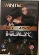 Wanted / The Incredible Hulk (DVD, 2009, 2-Disc Set) STARS James McAvoy