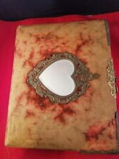 Antique Vintage Brass Mirror Cover Victorian Photo Album with 1 Lady Photo