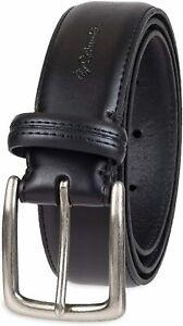 Columbia Men's Trinity Logo Belt-Casual Dress with Single Prong, Black, Size  eZ