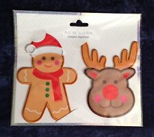 New Look novelty christmas jumper applique DIY iron on patch New Gingerbread Man