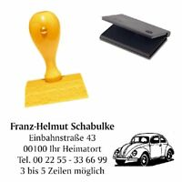 Adressenstempel « AUTO » mit Kissen - Firmenstempel Autohaus Werkstatt