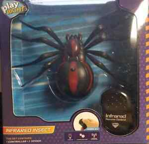 Realistic Black Fake Spider Remote Control RC Prank Toys Insects Bugs for Party