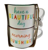 Sandra Magsamen Large Mug Set Morning Sunshine Have a Beautiful Day 18oz Nwt
