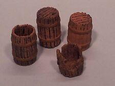 1/35 Escala pequeños de madera barriles 4 piezas Vehículo Estiba /