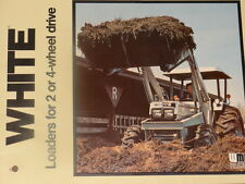 White Farm Equipment Loaders for 2 or 4-Wheel Drive Sales Brochure