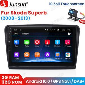 Für Skoda Superb 2008-2013 Autoradio Stereo GPS Navi WIFI 2+32G Android 10.0 DSP