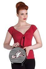 Hell Bunny Sadie Swallow Bird Stripey Nautical Bag Handbag Purse Rockabilly New