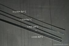 Nitinol NiTi SMA muscle wire Sample Pack 4 different kinds 0.5mm 1mm 2mm 40C 80C