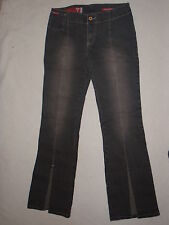 Women Guess Black Charcoal Gray Denim Jean Funky Vibe 29 2 4 6 Flare Leg Stretch