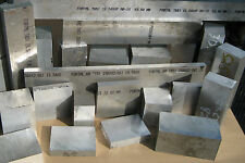 .885 x 4 1/8 x 15 5/8  Aluminum Plate Fortal HR T651 Aircraft Quality  #11872