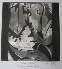 "LYNN KEATING AQUATINT ""RIVER THAMES HOMAGE TO ANDRE DERAIN"" 1996 LTD ED A"