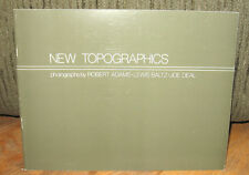 New Topographics Robert Adams Lewis Baltz Joe Deal Original 1981 Catalogue