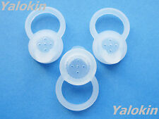 3 Large (L) Clear Eartips Set for Motorola Boom 89605N Bluetooth Headsets