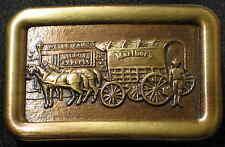 WESTERN Gürtelschnalle Postkutsche WELLS FARGO Railroad EXPRESS Pferdekutsche #