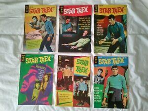 Star Trek Comic Book LOT! Gold Key! 6 Photo Cover Issues! Higher Grades!