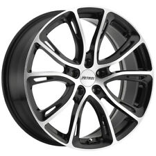 4-Petrol P5A 19x8 5x110 +40mm Black/Machined Wheels Rims