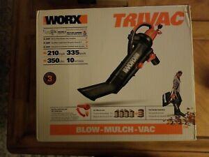 WORX WG505 TRIVAC 12 Amp 3-In-1 Electric Blower/Mulcher/Vacuum