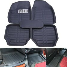 US Universal Car Floor Mats FloorLiners Front W/ Rear Carpet All Weather Black