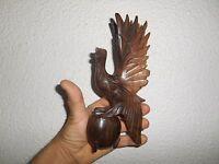 Ancien Serre Livre Bois Sculpté Oiseau Fantastique Griffon Phénix ? statuette