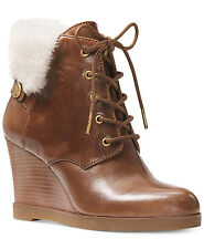 Michael Kors Womens Carrigan Wedge Lace Up Casual Ankle Booties Fashion Shoes
