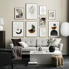 Modern Abstract Shape Vintage Poster Canvas Art Print Wall Picture Home Decor