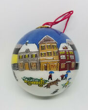 Ornament Hand Painted Glass Ball Snow Village Gaul Searson Limited San Francisco