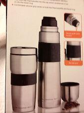 SET OF 3~~Sharper Image Stainless Thermos,Travel mug & Sports Bottle~~ship free