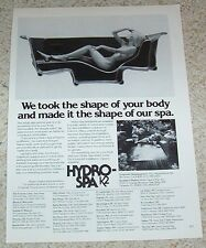 1979 ad page - Sexy NUDE GIRL in Hydro-Spa whirlpool Vintage Print ADVERT